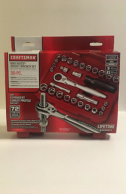 Craftsman 30pc Max Axess 1/4 & 3/8-in. Dr. Socket Wrench Set 93282