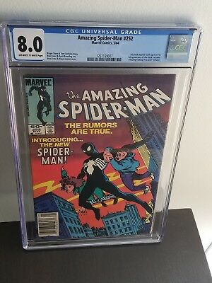 The Amazing Spider-Man #252 CGC 8.0 (FAST FREE SHIPPING!! )