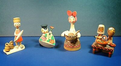 Russian Hand Painted Wooden Figures - Russian Sfsr