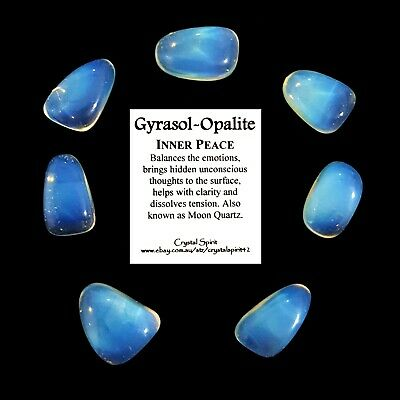 *1* GYRASOL - OPALITE  Tumbled Stone Approx 20mm-30mm *TRUSTED SELLER*