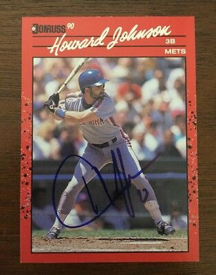 Howard Johnson 1990 Donruss Autographed Signed Auto Baseball Card 99 Mets
