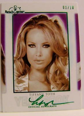 Tiffany Toth #1 /10 Green Official Autograph Hot For Teacher Bench Warmer 2018
