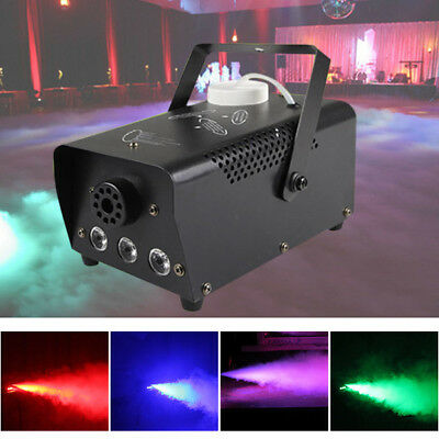 500W Smoke Fog Machine RGB LED Light Party Disco DJ Effect Stage Remote Control