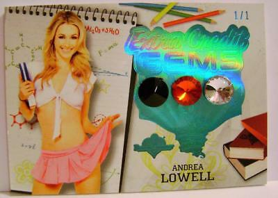 Andrea Lowell 1/1 One Of One Extra Credit Gems Hot For Teacher Bench Warmer