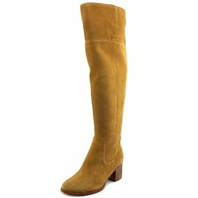 99e5c363fc1 Marc Fisher Escape Women Round Toe Suede Brown Over the Knee Boot Wide Calf  NWOB