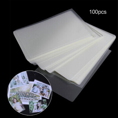 100 Letter Size Thermal Laminating Pouches Sheets Office Supplies 4 6 8 10'' A4