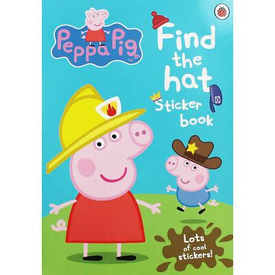 Peppa Pig - Find the Hat Sticker Book (Paperback), Children's Books, Brand New