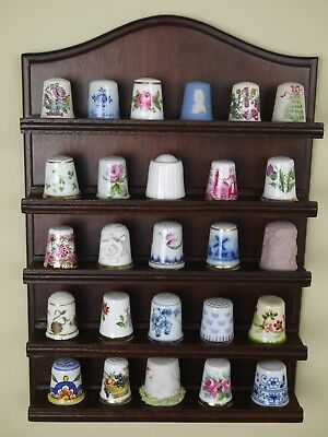 Fine Thimble Collection with Display Rack