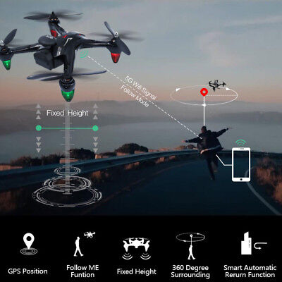 GW198 GPS RC Drone 5G Brushless Dron WiFi FPV Hover 720P HD Camera Follow Me