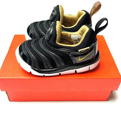 NIKE Dynamo Free TD 343938-071 Black Metallic Gold Toddler Baby Shoe  Sneaker 5C 3c26793fa