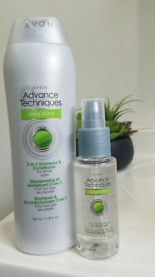 Avon Advance Techniques Daily Shine 2-in-1 Shampoo/Conditioner & Dry Ends Serum
