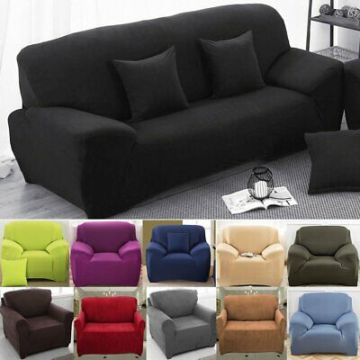 Stretch Fit Sofa Cover Removable Lounge Couch Slipcover Protector 1 2 3 4 Seater