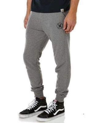 ** HURLEY** Mens Fleece Track Pants Trousers Gym Sport Casual Tracksuit Size M