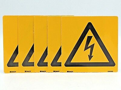 Brady 838588 Vinyl Sticker Warning Sign High Voltage Electricity Danger Decal x5