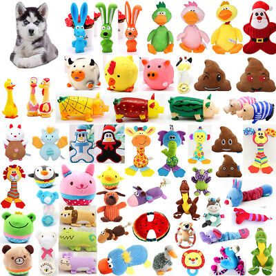 Pet Dog Toy Funny Puppy Chew Squeaker Squeaky Plush Play Sound Toys Lot