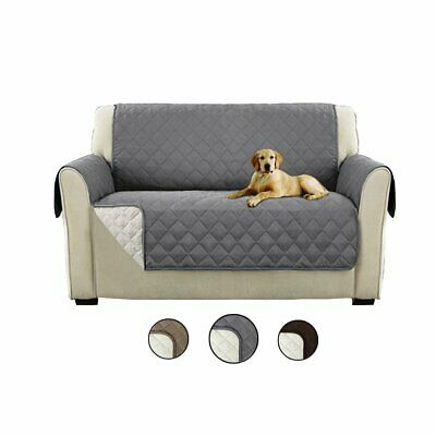 Sofa Cover Slipcover 1/2/3 Seater Quilted Pet Anti-Slip Protector Couch Covers