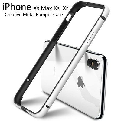 Shockproof Slim Aluminum Metal Bumper Frame Cover Case For iPhone Xs Max/7 8+
