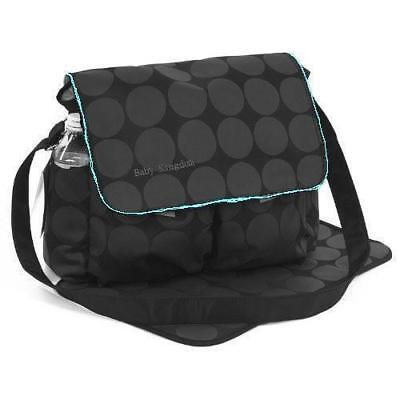 Large Polka Dots Baby Nappy Diaper Changing Bags Mat Set BLACK/GREY 038 New