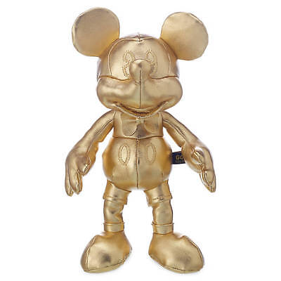 Official Disney 90th Anniversary Mickey Mouse Gold Collection 25cm Soft Bean Bag
