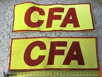 CFA Embroidered Cloth Patches Country Fire Authority Brigade Firefighter X 2