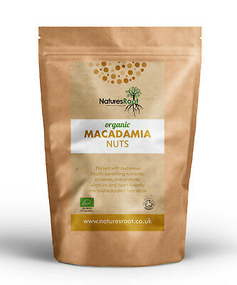 Natures Root Organic Macadamia Nuts -  60g | 125g | 250g | 500g | 1kg