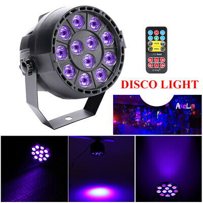36W 12LED UV Black Stage Lighting Par Light DMX Wall Washer Lamp Disco Bar Party