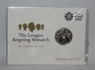 Royal Mint - 2015 Longest Reigning Monarch £20 Fine Silver Coin Pack - Sealed