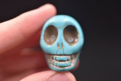 Chinese old jade Hongshan culture Skull hand carved amulet pendant S22