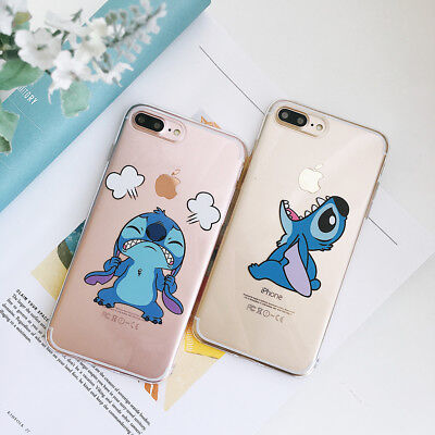 FUNDA CARCASA SUAVE TPU PARA Apple iPHONE 6S 7 8 PLUS X XR XS Max DISNEY STITCH