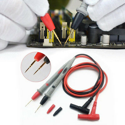 Needle Tipped Tip Multimeter Test Leads Probes Wire Volt Meter Cable 20A 1000V