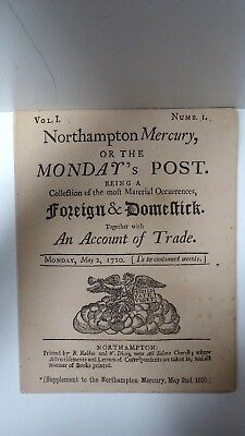 Northampton Mercury Supplement May 2Nd 1890 (From 1720) Newspaper