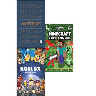 Minecraft by GamesMaster Roblox Annual 3 Books Collection Set Brand NEW