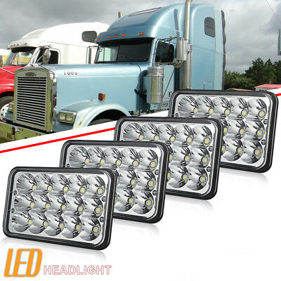 "4x6"" X4 LED Headlights for Kenworth T400 T600 T800 W900L W900B Classic 120/132"