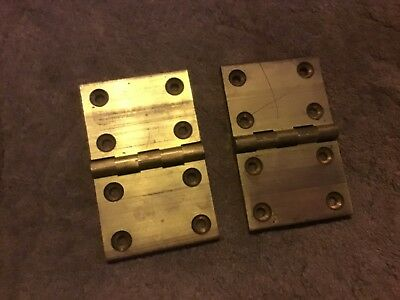 """Old  Cast brass (BUTT HINGES ) size 4"""" x 2"""" open"""