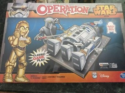 NEW SEALED STAR Wars Operation Board Game Sound effects R2D2 C3PO