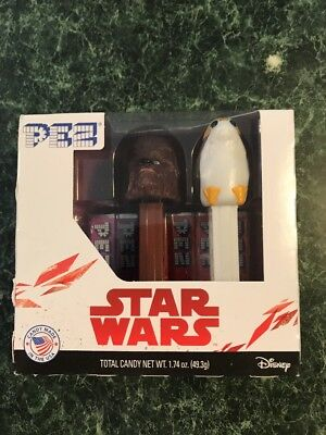 Pez New Star Wars Twin Pack Chewbacca And Dispensers