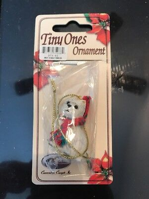 West Highland White Terrier Dog Tiny One Miniature Christmas XMAS ORNAMENT