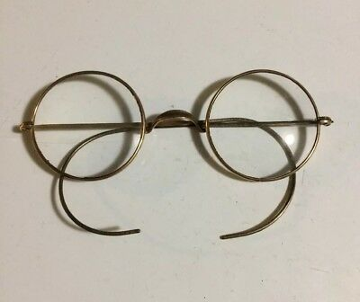 aacdf17f5b9c Vintage Antique Windsor Round Gold Eyeglasses Frames Lennon Potter Steampunk