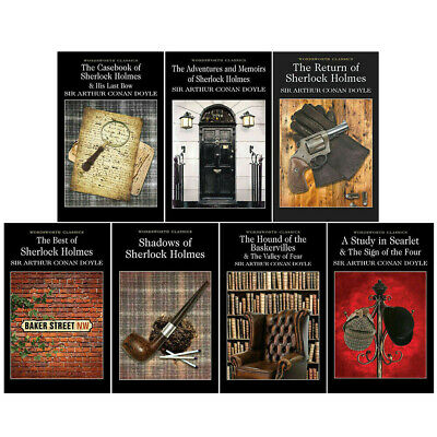 Complete Illustrated Sherlock Holmes 7 Books Collection Box Set By Arthur Conan