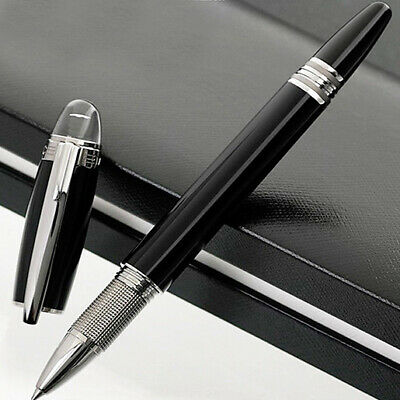 Luxury Classic MB Pen Rollerball Black Silver Business Office Gift High Quality