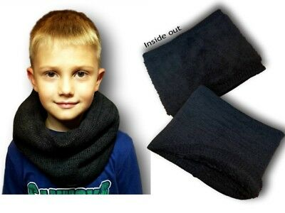 Boys Kids Children Autumn Warm Knitted  Winter Scarf Neck Warmer One Size