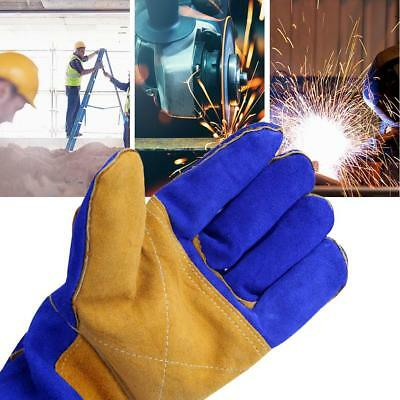 Soft Welding Leather Plus Gloves Heat Shield Grilling Cover Guard Safe Protectio