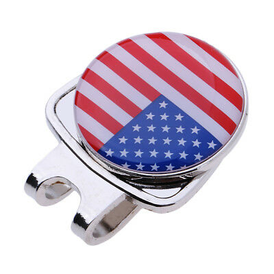 Alloy Golf Ball Marker w/Magnetic Hat Clip Putt Alignment Tool Golfer Gift