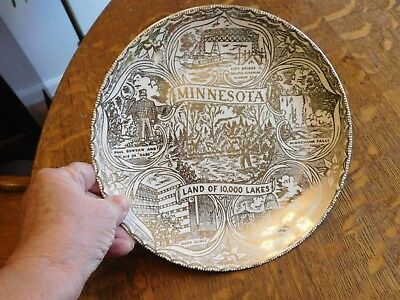 Vintage collector Plate, Minnesota,Land of 10,000 Lakes