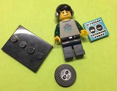 New Genuine LEGO DJ Minifig with Record Series 8 8833