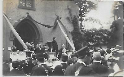 RPPC Cooperstown NY Centential Celebration 1907 Crowd Band Members Dignitaries