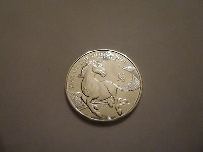 2014 Great Britain Lunar Series Year of the Horse 2 Pounds 1 oz Fine Silver