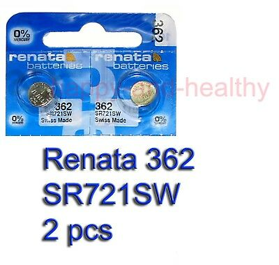Authentic Renata SR721SW 362 Silver Oxide Battery x2 pcs SWISS made FREE post