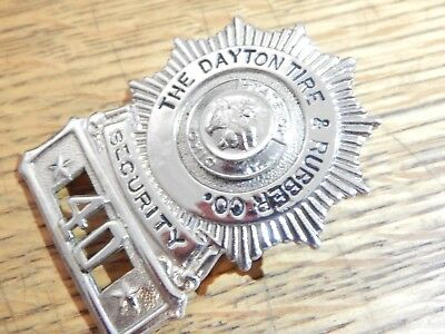 Antique  Dayton Tire Rubber Company Security  Ohio Oh Police