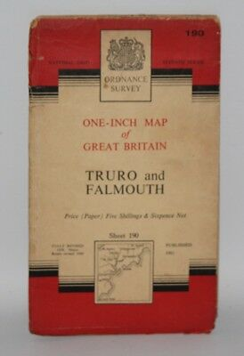 Ordnance Survey - One Inch Map - Truro and Falmouth - Sheet 190 - 1961